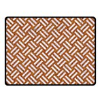 WOVEN2 WHITE MARBLE & RUSTED METAL Double Sided Fleece Blanket (Small)  45 x34 Blanket Back