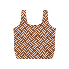 Woven2 White Marble & Rusted Metal Full Print Recycle Bags (s)
