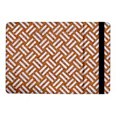 Woven2 White Marble & Rusted Metal Samsung Galaxy Tab Pro 10 1  Flip Case