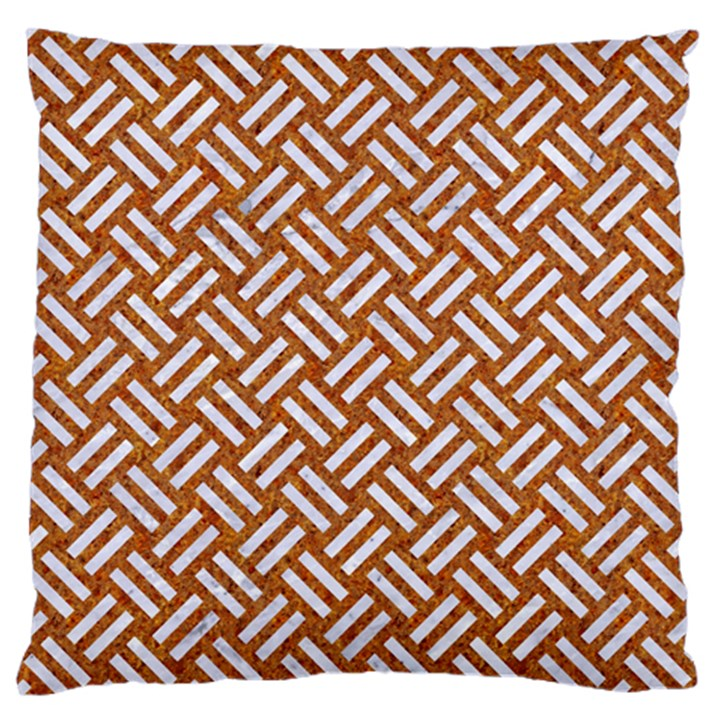 WOVEN2 WHITE MARBLE & RUSTED METAL Standard Flano Cushion Case (One Side)