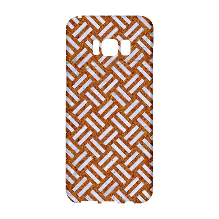 WOVEN2 WHITE MARBLE & RUSTED METAL Samsung Galaxy S8 Hardshell Case