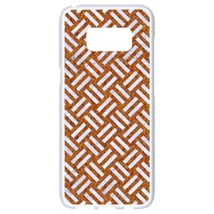Woven2 White Marble & Rusted Metal Samsung Galaxy S8 White Seamless Case by trendistuff
