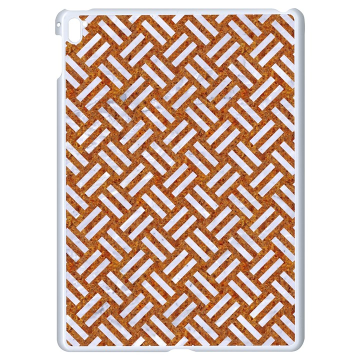 WOVEN2 WHITE MARBLE & RUSTED METAL Apple iPad Pro 9.7   White Seamless Case