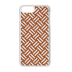Woven2 White Marble & Rusted Metal Apple Iphone 8 Plus Seamless Case (white)