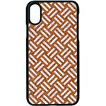 WOVEN2 WHITE MARBLE & RUSTED METAL Apple iPhone X Seamless Case (Black) Front