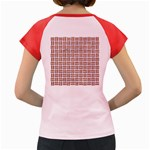 WOVEN1 WHITE MARBLE & RUSTED METAL (R) Women s Cap Sleeve T-Shirt Back