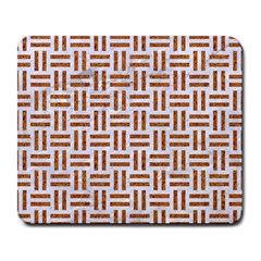 Woven1 White Marble & Rusted Metal (r) Large Mousepads by trendistuff