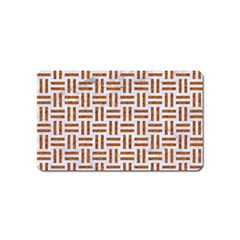 Woven1 White Marble & Rusted Metal (r) Magnet (name Card) by trendistuff