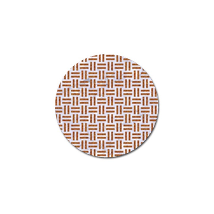 WOVEN1 WHITE MARBLE & RUSTED METAL (R) Golf Ball Marker (4 pack)