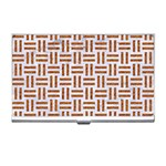 WOVEN1 WHITE MARBLE & RUSTED METAL (R) Business Card Holders Front