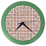 WOVEN1 WHITE MARBLE & RUSTED METAL (R) Color Wall Clocks Front