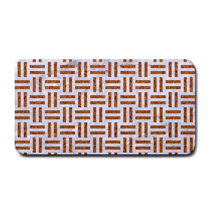 WOVEN1 WHITE MARBLE & RUSTED METAL (R) Medium Bar Mats