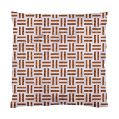 Woven1 White Marble & Rusted Metal (r) Standard Cushion Case (two Sides) by trendistuff