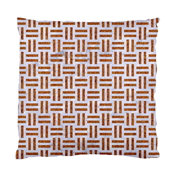 WOVEN1 WHITE MARBLE & RUSTED METAL (R) Standard Cushion Case (Two Sides)