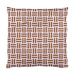 WOVEN1 WHITE MARBLE & RUSTED METAL (R) Standard Cushion Case (Two Sides) Back