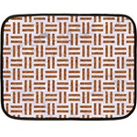 WOVEN1 WHITE MARBLE & RUSTED METAL (R) Double Sided Fleece Blanket (Mini)  35 x27 Blanket Back