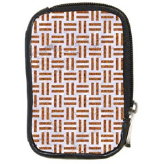 Woven1 White Marble & Rusted Metal (r) Compact Camera Cases