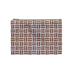 WOVEN1 WHITE MARBLE & RUSTED METAL (R) Cosmetic Bag (Medium)  Front