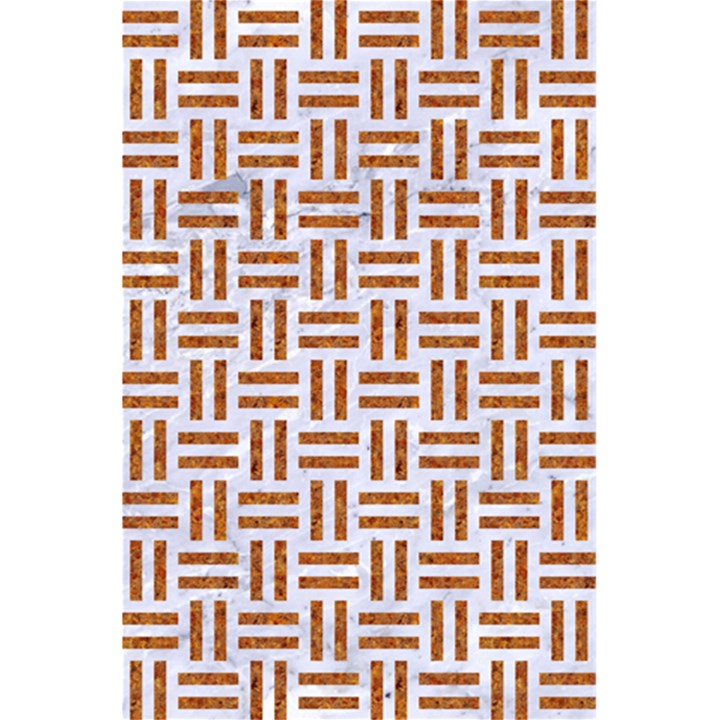 WOVEN1 WHITE MARBLE & RUSTED METAL (R) 5.5  x 8.5  Notebooks