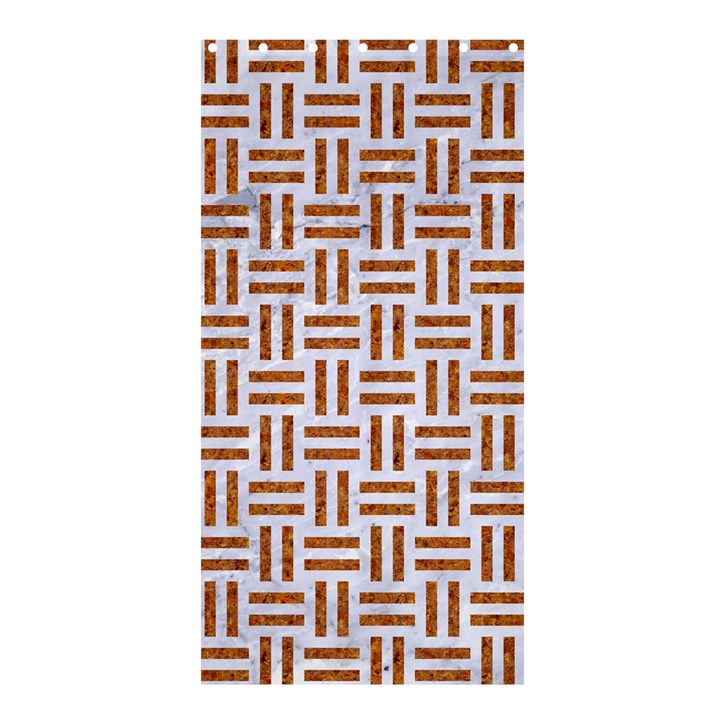 WOVEN1 WHITE MARBLE & RUSTED METAL (R) Shower Curtain 36  x 72  (Stall)