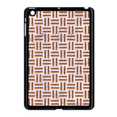Woven1 White Marble & Rusted Metal (r) Apple Ipad Mini Case (black) by trendistuff