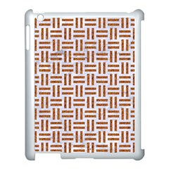 Woven1 White Marble & Rusted Metal (r) Apple Ipad 3/4 Case (white) by trendistuff