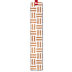 Woven1 White Marble & Rusted Metal (r) Large Book Marks