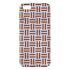 Woven1 White Marble & Rusted Metal (r) Apple Iphone 5 Premium Hardshell Case by trendistuff