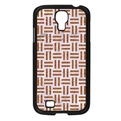 Woven1 White Marble & Rusted Metal (r) Samsung Galaxy S4 I9500/ I9505 Case (black) by trendistuff