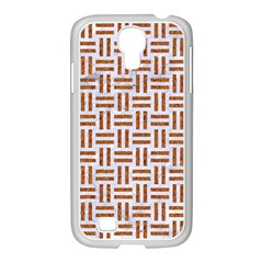 Woven1 White Marble & Rusted Metal (r) Samsung Galaxy S4 I9500/ I9505 Case (white) by trendistuff