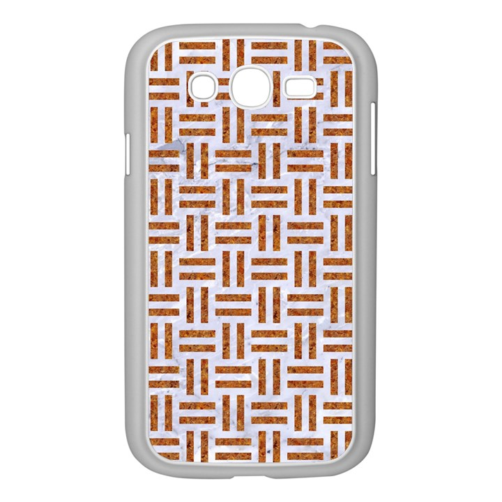 WOVEN1 WHITE MARBLE & RUSTED METAL (R) Samsung Galaxy Grand DUOS I9082 Case (White)