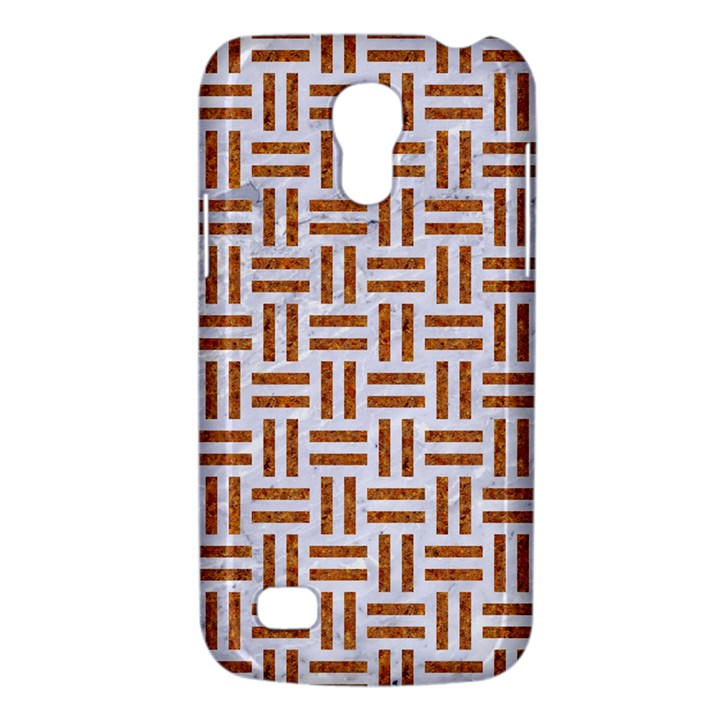 WOVEN1 WHITE MARBLE & RUSTED METAL (R) Galaxy S4 Mini