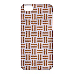 Woven1 White Marble & Rusted Metal (r) Apple Iphone 5c Hardshell Case by trendistuff