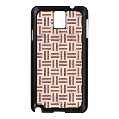 Woven1 White Marble & Rusted Metal (r) Samsung Galaxy Note 3 N9005 Case (black) by trendistuff