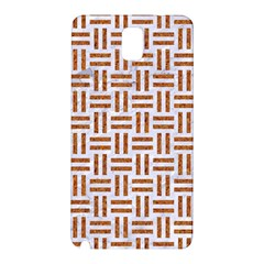 Woven1 White Marble & Rusted Metal (r) Samsung Galaxy Note 3 N9005 Hardshell Back Case by trendistuff