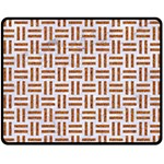 WOVEN1 WHITE MARBLE & RUSTED METAL (R) Double Sided Fleece Blanket (Medium)  58.8 x47.4 Blanket Back