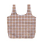 WOVEN1 WHITE MARBLE & RUSTED METAL (R) Full Print Recycle Bags (M)  Front