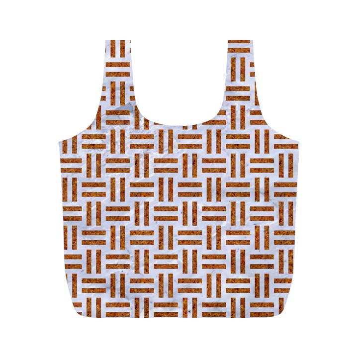 WOVEN1 WHITE MARBLE & RUSTED METAL (R) Full Print Recycle Bags (M)
