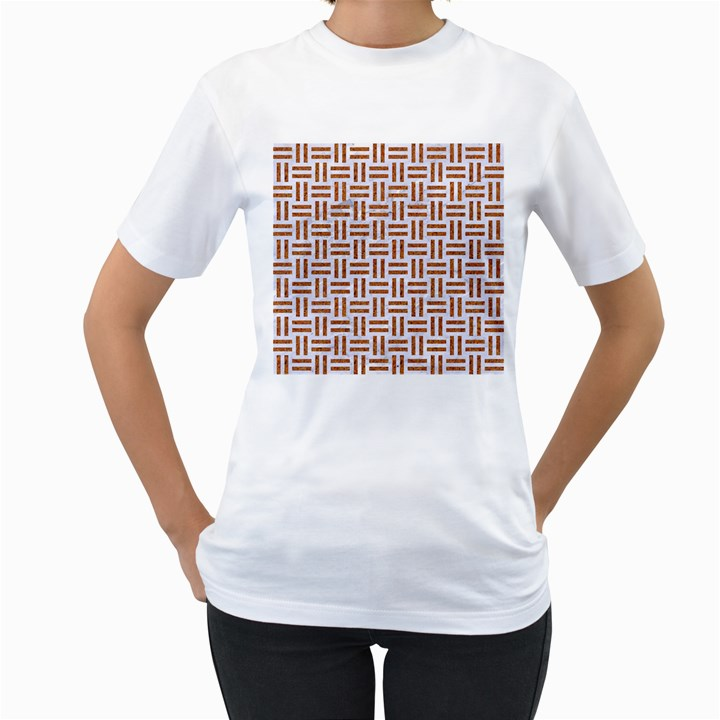 WOVEN1 WHITE MARBLE & RUSTED METAL (R) Women s T-Shirt (White)