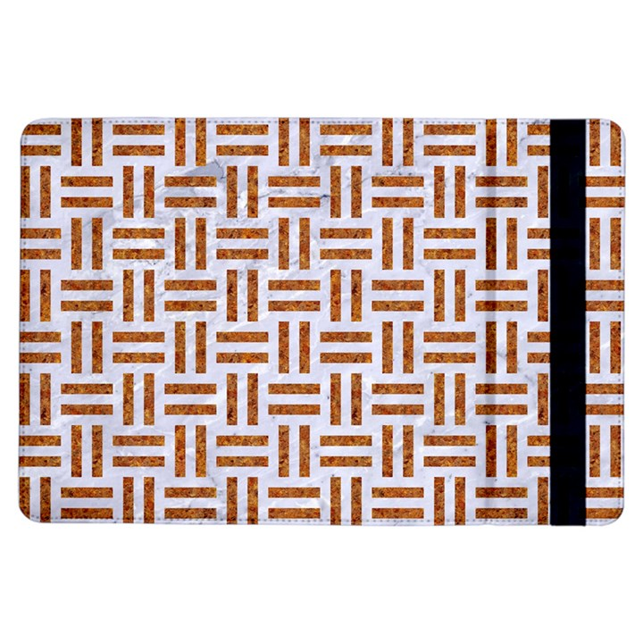 WOVEN1 WHITE MARBLE & RUSTED METAL (R) iPad Air Flip