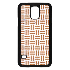 Woven1 White Marble & Rusted Metal (r) Samsung Galaxy S5 Case (black) by trendistuff