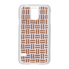 Woven1 White Marble & Rusted Metal (r) Samsung Galaxy S5 Case (white) by trendistuff