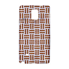 Woven1 White Marble & Rusted Metal (r) Samsung Galaxy Note 4 Hardshell Case by trendistuff