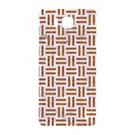 WOVEN1 WHITE MARBLE & RUSTED METAL (R) Samsung Galaxy Alpha Hardshell Back Case Front