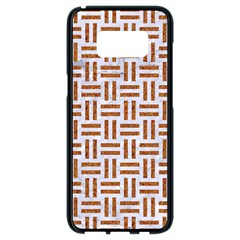 Woven1 White Marble & Rusted Metal (r) Samsung Galaxy S8 Black Seamless Case by trendistuff
