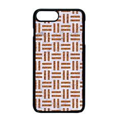 Woven1 White Marble & Rusted Metal (r) Apple Iphone 8 Plus Seamless Case (black)