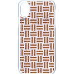 WOVEN1 WHITE MARBLE & RUSTED METAL (R) Apple iPhone X Seamless Case (White) Front