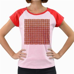 WOVEN1 WHITE MARBLE & RUSTED METAL Women s Cap Sleeve T-Shirt