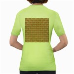 WOVEN1 WHITE MARBLE & RUSTED METAL Women s Green T-Shirt Back