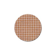 Woven1 White Marble & Rusted Metal Golf Ball Marker (10 Pack) by trendistuff